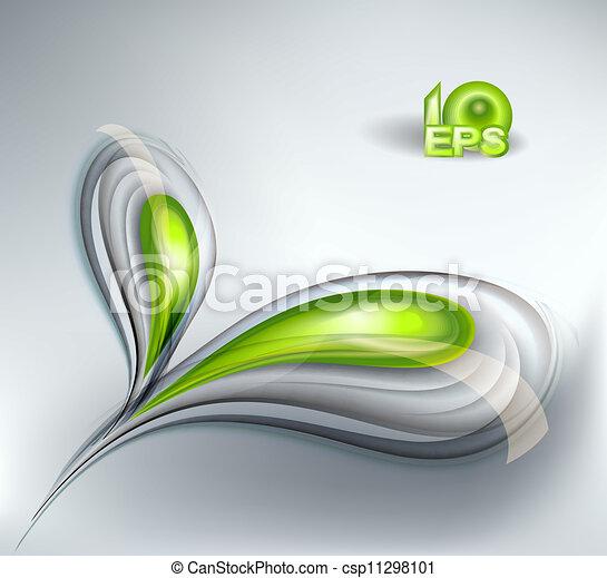 abstract, groene achtergrond - csp11298101