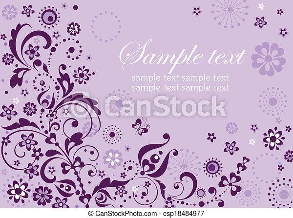 abstract, viooltje, kaart, bezoeken - csp18484977