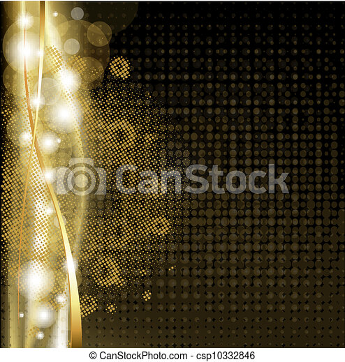 achtergrond, luxe, sterretjes - csp10332846