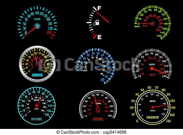 auto, speedometers - csp5414688
