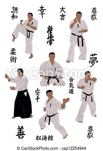 beelden, karate, set - csp12254944