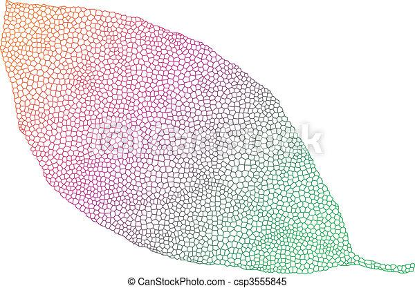 blad, kleurrijke - csp3555845
