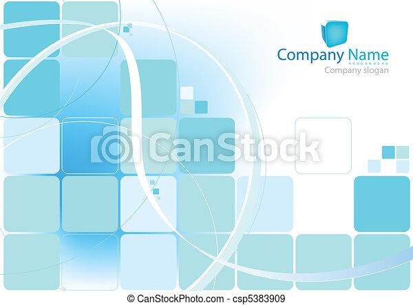 blauwe achtergrond, abstract - csp5383909