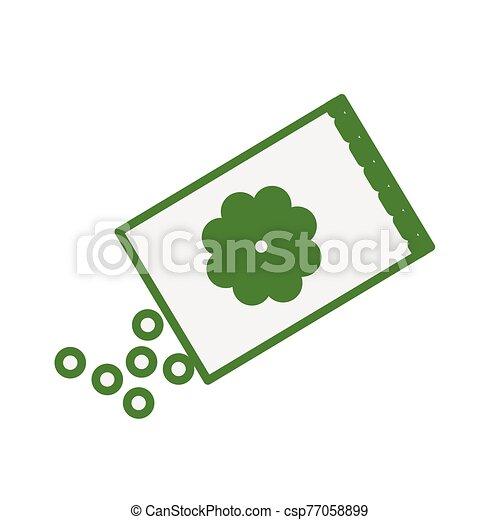 bloemen, zak, zaden, lente - csp77058899