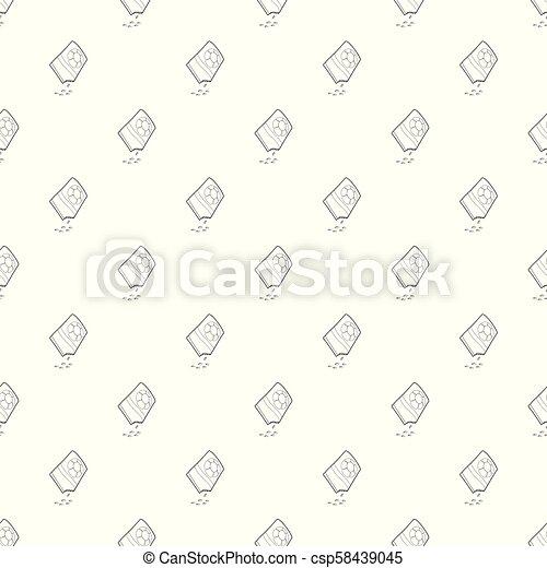 bloempatroon, seamless, zak, vector, zaden - csp58439045