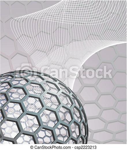 buckyball, abstract, achtergrond - csp2223213
