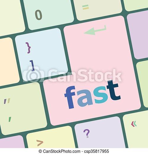 computer, knoop, illustratie, vector, vasten, klee, toetsenbord - csp35817955