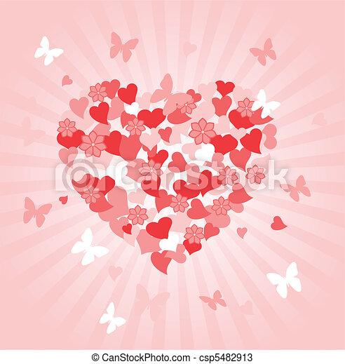 dag, hart, valentines - csp5482913