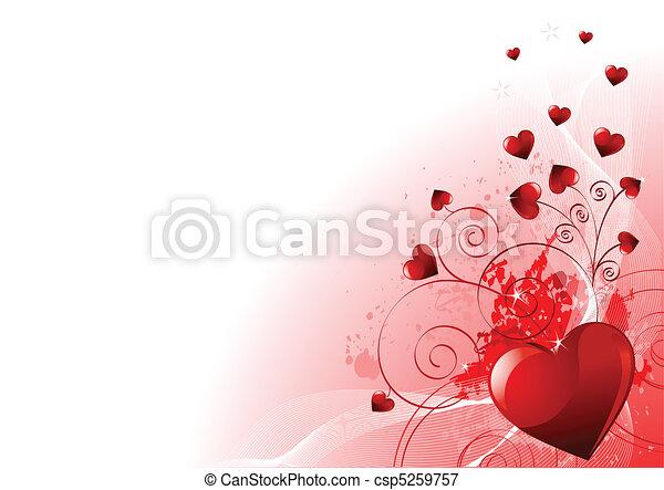 dag, valentines, achtergrond - csp5259757