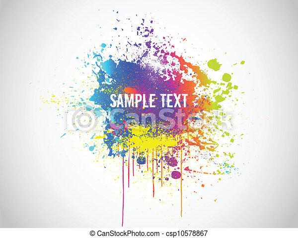 de plons van de verf, abstract, illustratie, achtergrond., vector - csp10578867