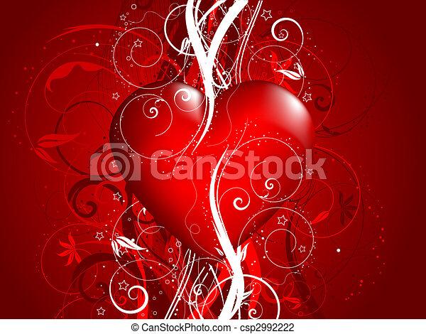 decoratief, achtergrond, valentines - csp2992222