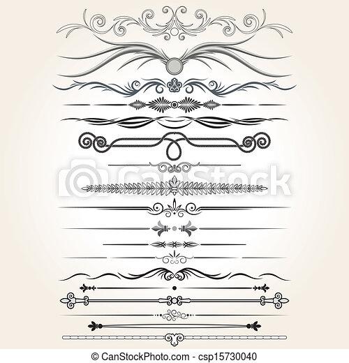 decorative elements, vector, regel, lines., ontwerp - csp15730040