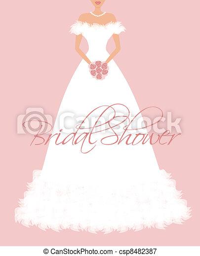 douche, bridal, uitnodiging - csp8482387