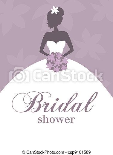 douche, bridal, uitnodiging - csp9101589