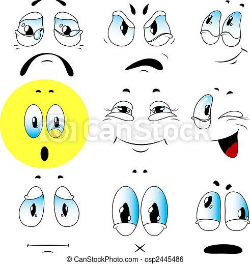 emoties, set, vector - csp2445486