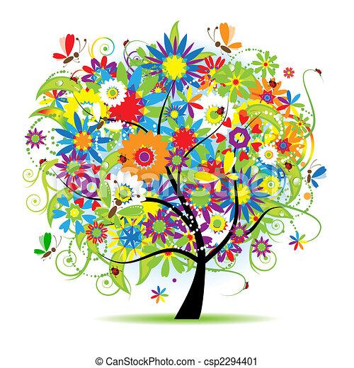 floral, mooi, boompje - csp2294401