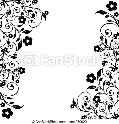 floral, ornament - csp4280929