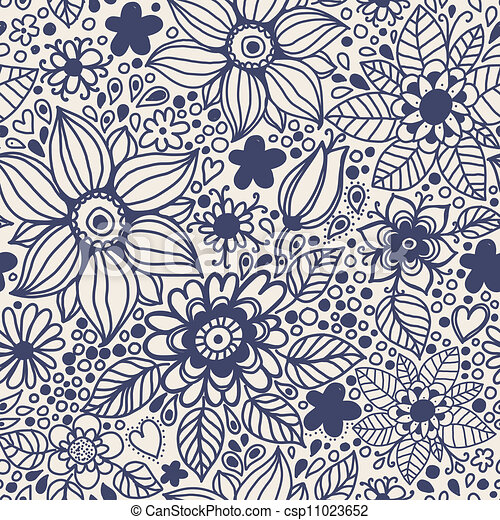 flowers., seamless, textuur - csp11023652