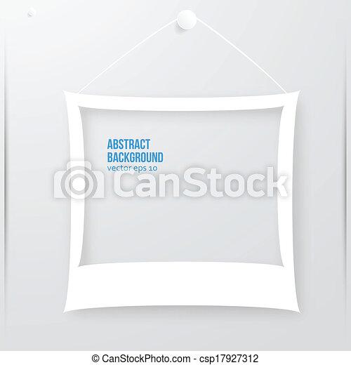 fotokader, vector, illustration., banner. - csp17927312