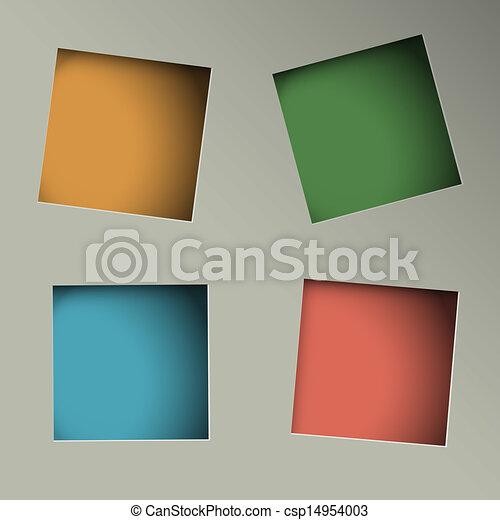 gaten, plein, papier, achtergrond, minimalistic - csp14954003