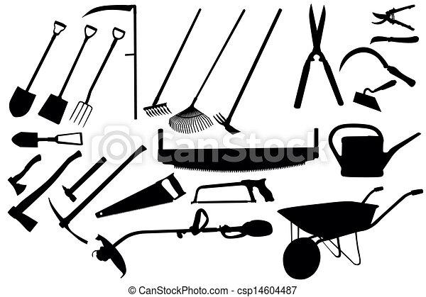 gereedschap, tuinieren, verzameling - csp14604487
