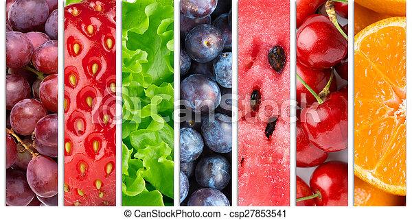 gezond voedsel, achtergrond - csp27853541