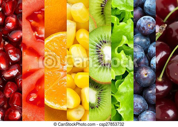gezond voedsel, achtergrond - csp27853732