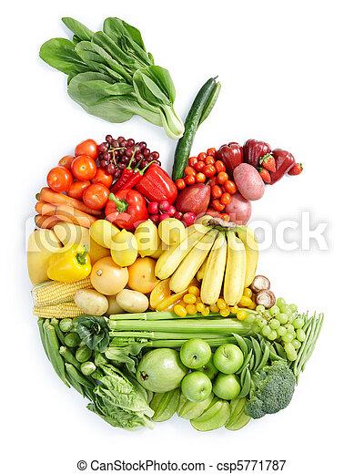 gezond voedsel, appel, bite: - csp5771787