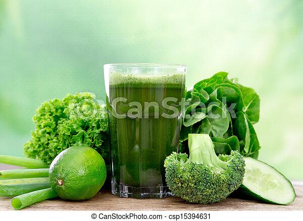 gezonde , sap, groene - csp15394631