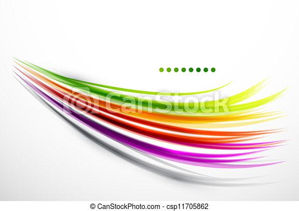 golvend, lijnen, kleurrijke - csp11705862