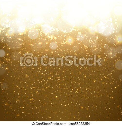 gouden, bokeh, achtergrond - csp56033354