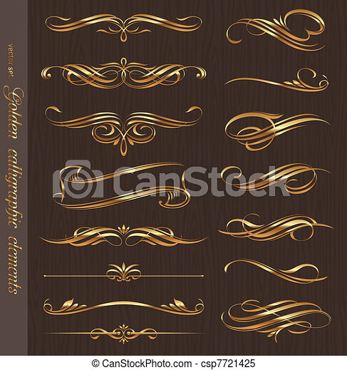 gouden, communie, hout samenstelling, calligraphic, vector, ontwerp, achtergrond, black  - csp7721425