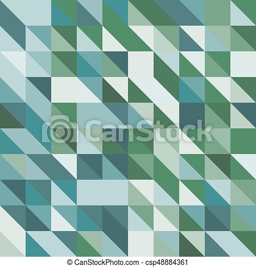 groene samenvatting, toon, driehoeken, achtergrond - csp48884361