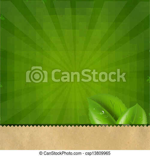 groene, zonnestraal, retro, textuur, achtergrond - csp13809965