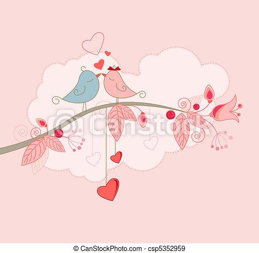 groet, valentine, kaart, dag - csp5352959