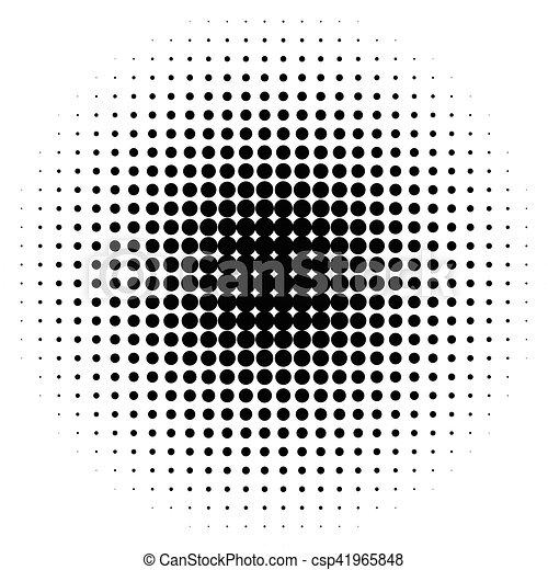 half-tone, punten, monochroom, cirkels, halftone, pattern. - csp41965848