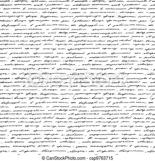 handwriting., vector, seamless, achtergrond. - csp9763715