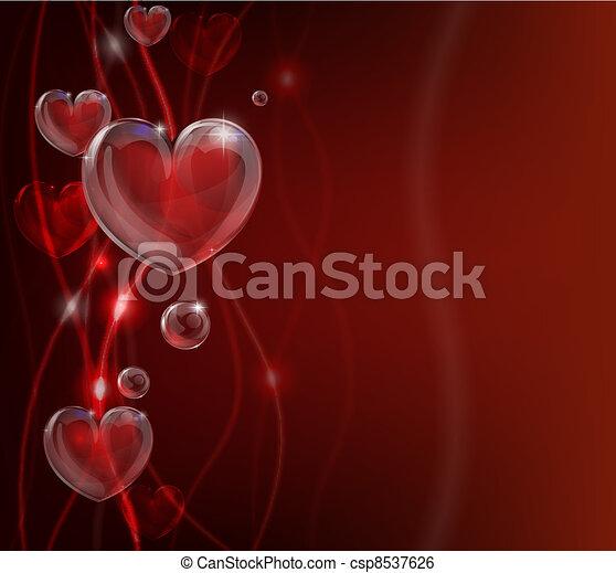 hart, abstract, valentines dag, backg - csp8537626