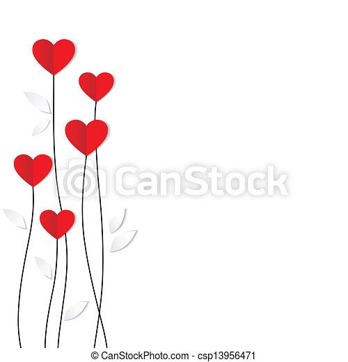 hart, card., paper., valentines, vakantie, dag - csp13956471