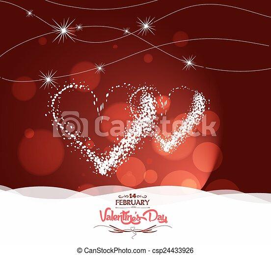 hart, valentijn, dag, licht - csp24433926