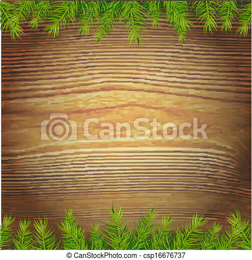 hout, kerstmis, achtergrond - csp16676737