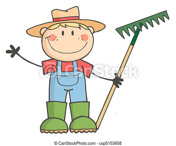 jongen, farmer, kaukasisch - csp5153658