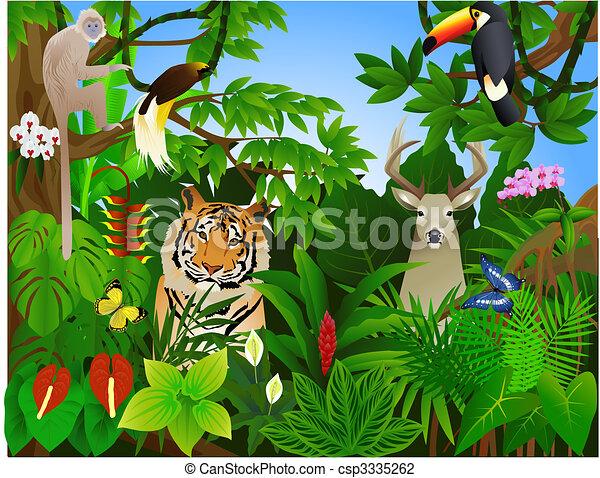 jungle, dier - csp3335262