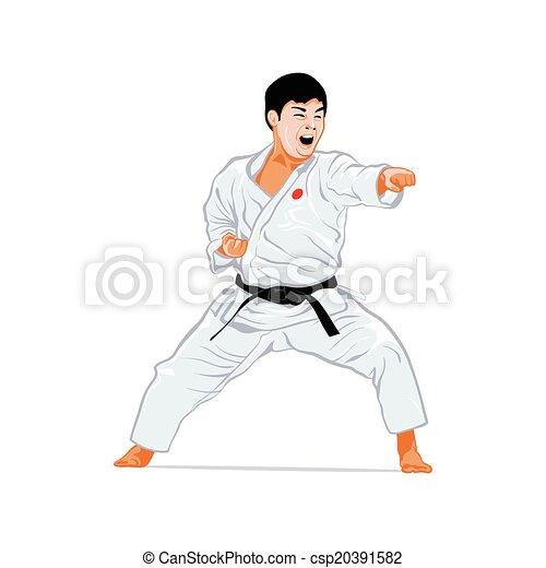 karate, aanval - csp20391582