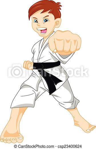 karate, jongen - csp23400624