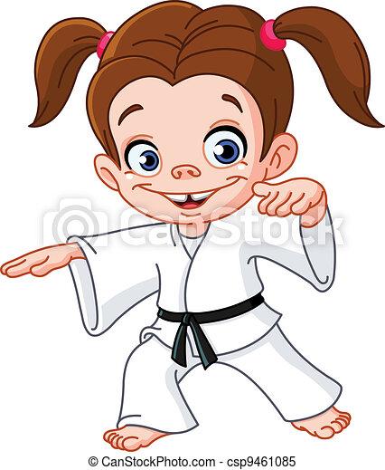 karate, meisje - csp9461085