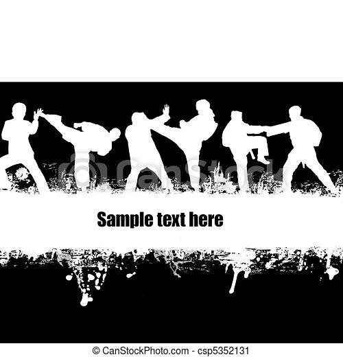 karate, poster - csp5352131