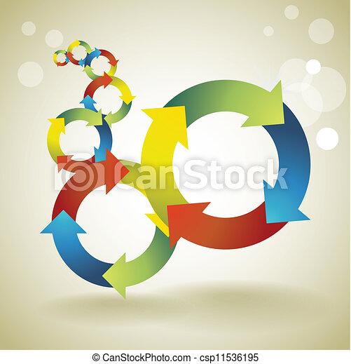 kleur, -, illustratie, symbolen, concept, achtergrond, mal, hergebruiken - csp11536195