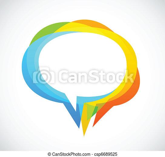 kleurrijke, abstract, -, toespraak, achtergrond, bel - csp6689525