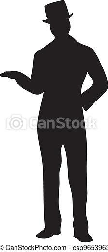 lakeien, mannelijke , silhouette - csp9653963